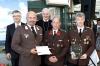 FF Lengenfeld: Günther Graf, Markus Hoffmann, Abt Columban Luser, Stefan Penz, Günter Gruber (von links). Foto: Martin Kalchhauser
