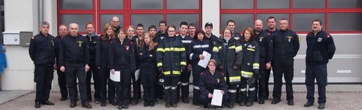 Abschluss Truppmann am 06.04.2013 im Feuerwehrhaus Lengenfeld