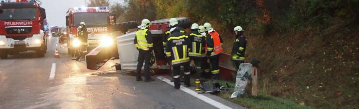 Verkehrsunfall B37 12.10.2013