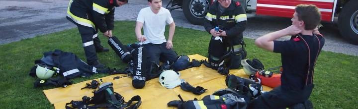 Übung der Feuerwehren Lengenfeld-Stratzing-Droß