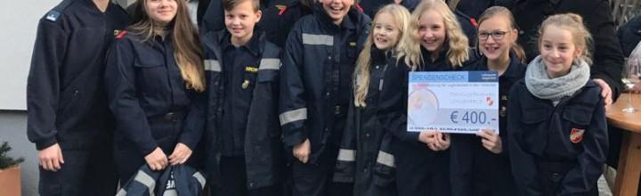 Spende an die Feuerwehrjugend