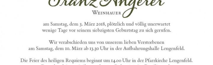 Begräbnis Franz Angerer