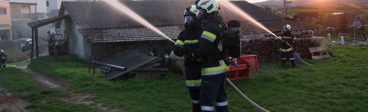 Brandübung Weidengasse