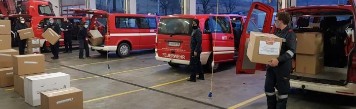 Logistische Unterstützung für die Massentestung im Bezirk Krems