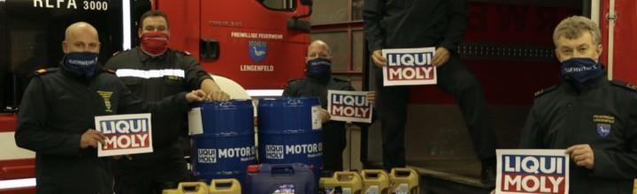 Liqui Moly unterstützt Blaulichtorganisationen