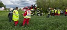 Schwerer Verkehrsunfall mit Menschenrettung auf der B37