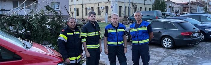 KHD-Einsatz nach Tornado in Tschechien