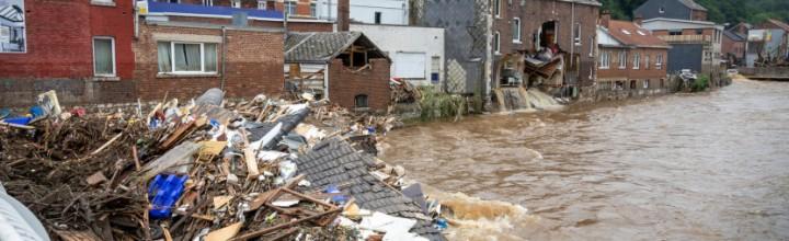 Hilfseinsatz nach Hochwasserkatastrophe in Belgien